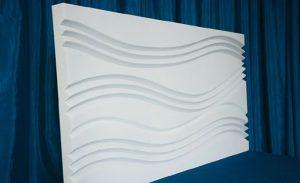 3d панели гипсовые волна
