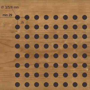 Акустическая, негорючая панель D3,5,8-16