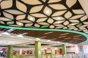 дизайнерские потолки с листочками