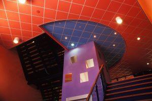 цветные подвесные потолки рокфон