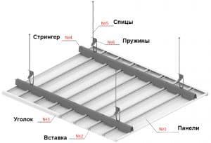 CESAL реечный потолок H-дизайн